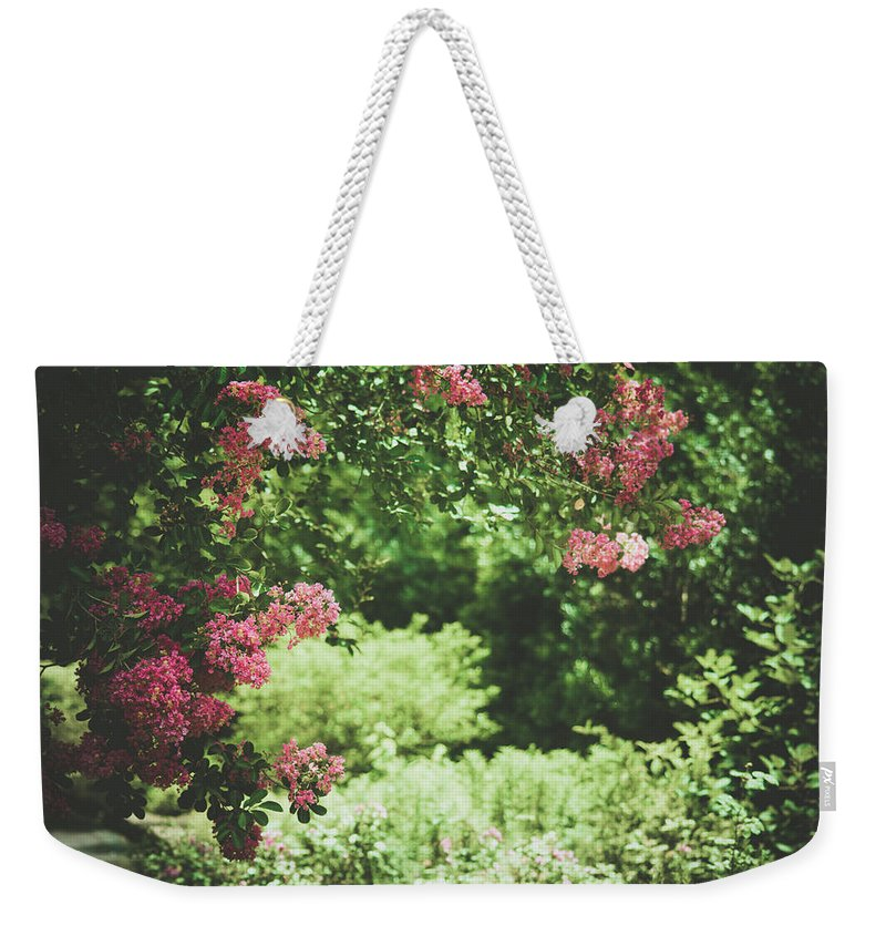 Garden Weekender Tote Bag featuring the photograph Blooming Garden by Valerie Kingston