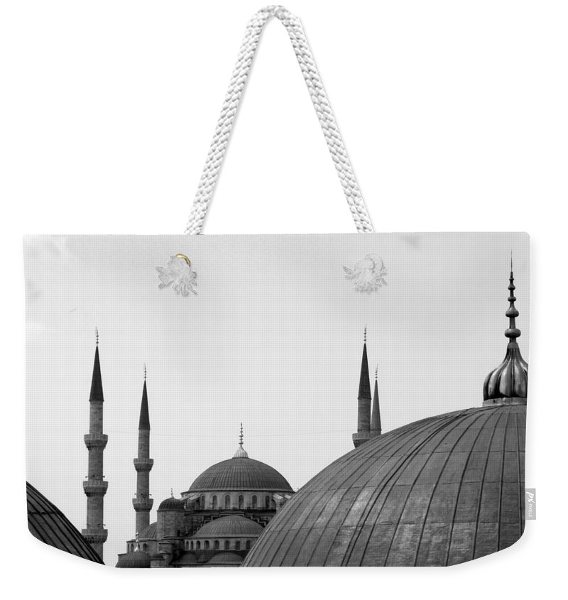 Istanbul Weekender Tote Bag featuring the photograph Blue Mosque, Istanbul by Dave Lansley