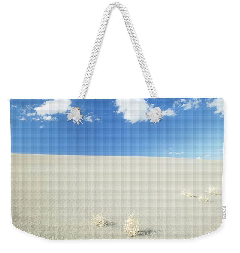 Sand Dune Weekender Tote Bag featuring the photograph Blue Sky Over Sand Dune by Bryan Mullennix