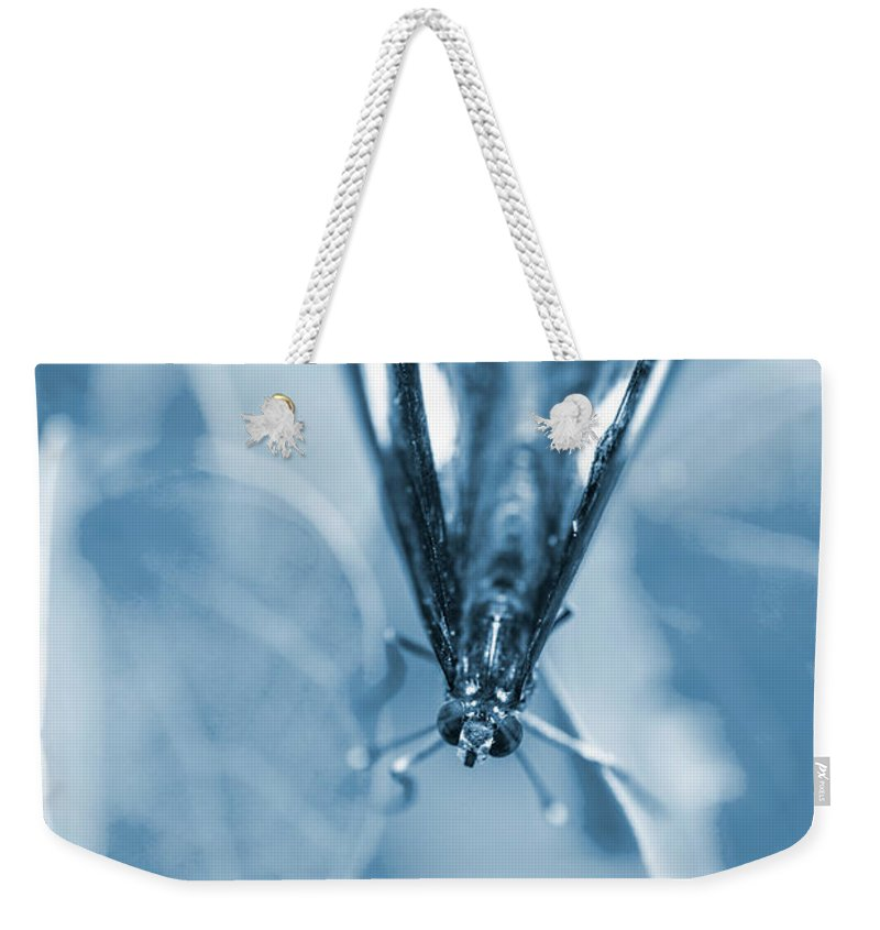 Blue Weekender Tote Bag featuring the photograph Blue Spring by Jorgo Photography - Wall Art Gallery