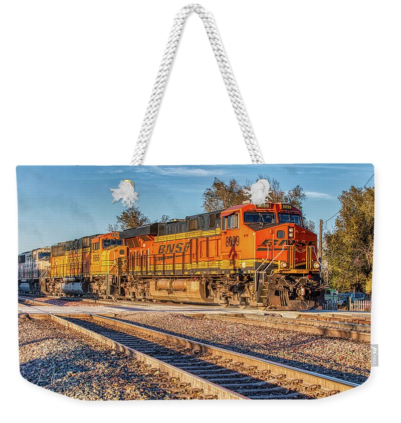 Bnsf Weekender Tote Bag featuring the photograph Bnsf8099 by Jim Thompson