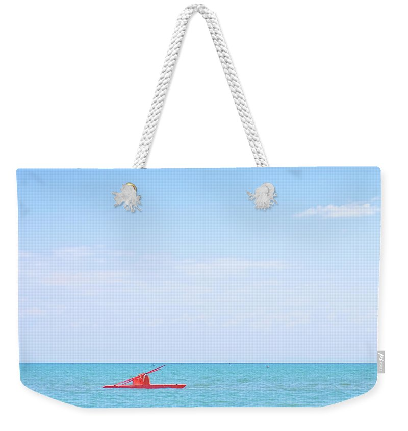 Scenics Weekender Tote Bag featuring the photograph Boat by Michael Kohaupt