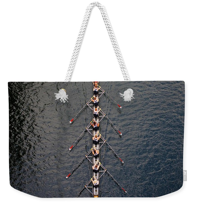 Viewpoint Weekender Tote Bag featuring the photograph Boat Race by Fuse