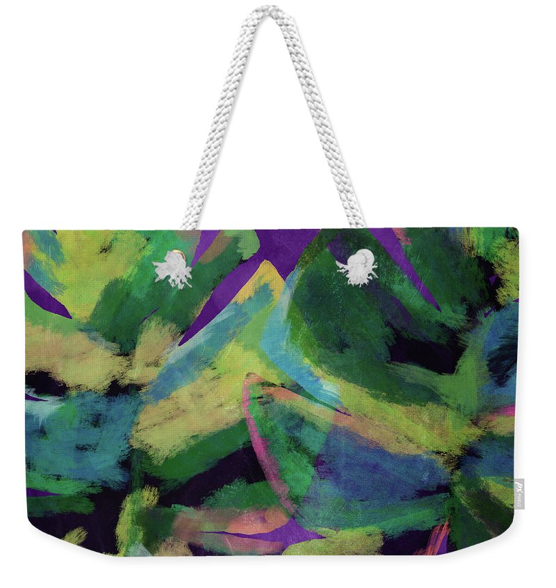 Tropical Art Weekender Tote Bag featuring the mixed media Bold Tropical Dreams- Art by Linda Woods by Linda Woods