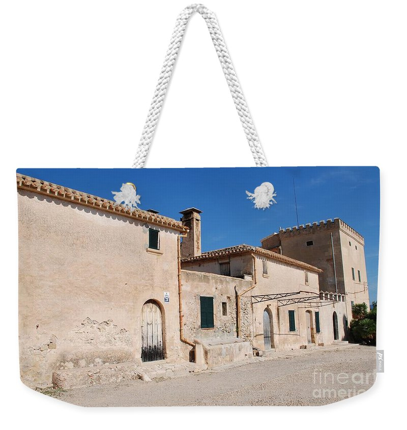 Majorca Weekender Tote Bag featuring the photograph Boquer Valley Building In Majorca by David Fowler