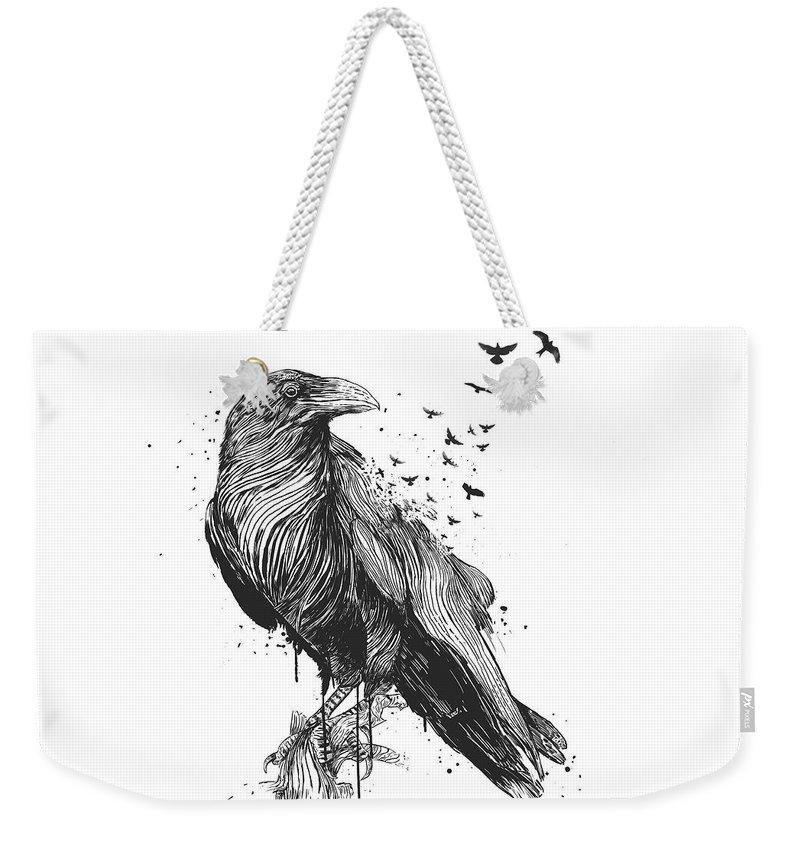 Raven Weekender Tote Bags