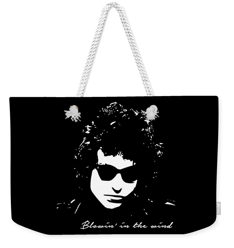 Bob Dylan Weekender Tote Bag featuring the digital art Bowin' In The Wind by Filip Schpindel