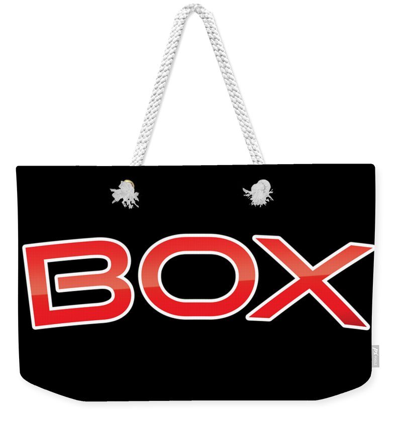 Box Weekender Tote Bag featuring the digital art Box by TintoDesigns
