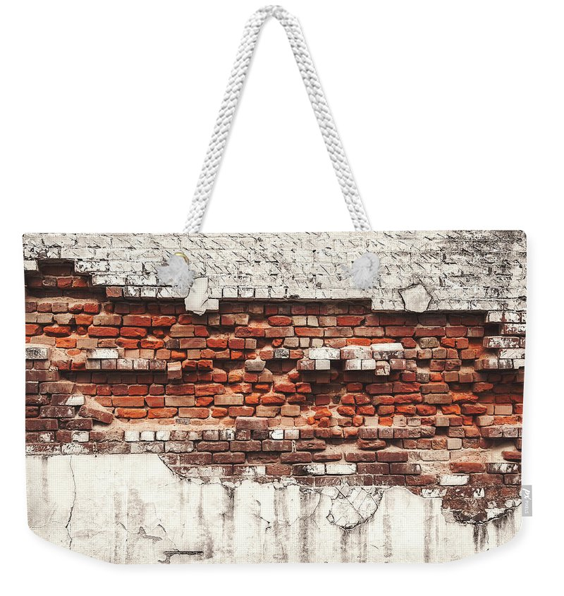 Tranquility Weekender Tote Bag featuring the photograph Brick Wall Falling Apart by Ty Alexander Photography