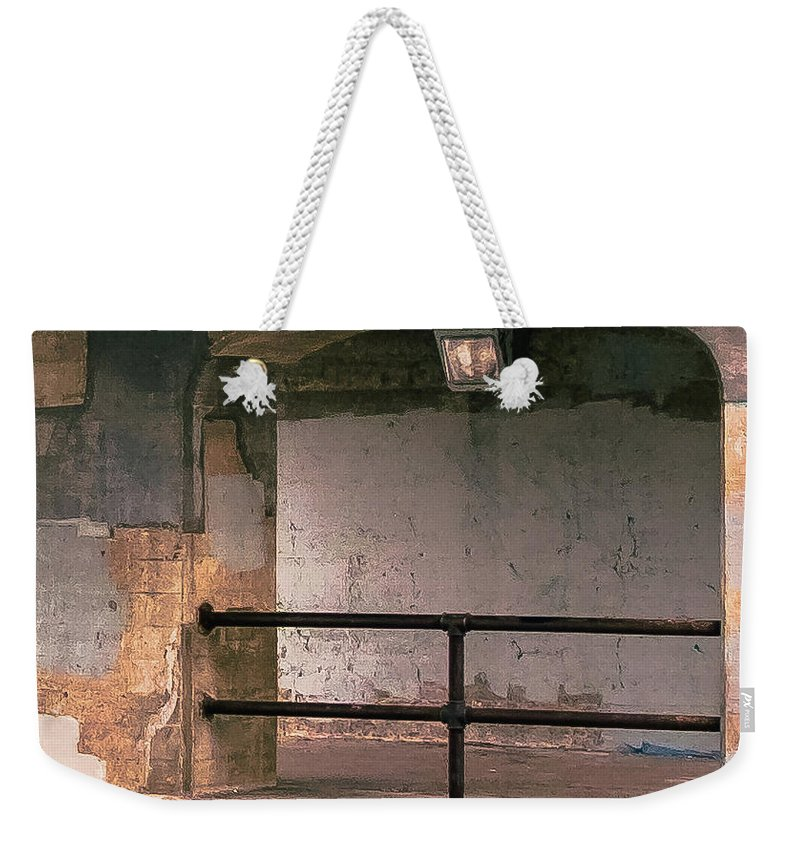 Architecture Weekender Tote Bag featuring the photograph Bridge Pastel by Joel Friedman