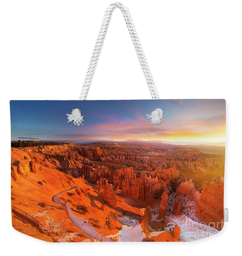 Scenics Weekender Tote Bag featuring the photograph Bryce Canyon National Park At Sunset by Ankit Saxena