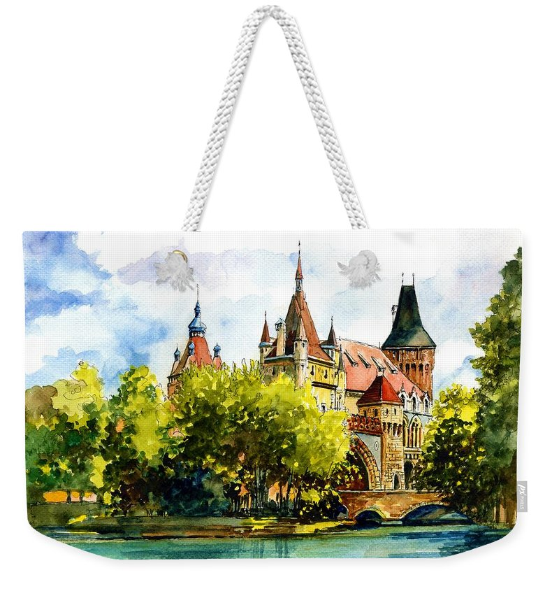 Budapest Weekender Tote Bag featuring the painting Budapest Castle by ArtMarketJapan