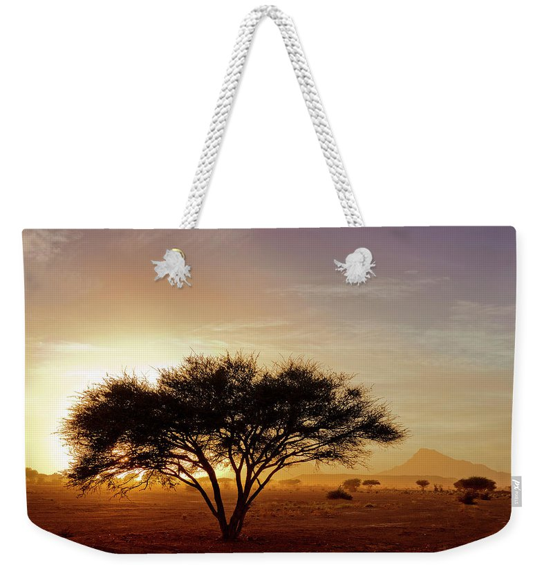 Tranquility Weekender Tote Bag featuring the photograph Burning Desert by Bernd Schunack