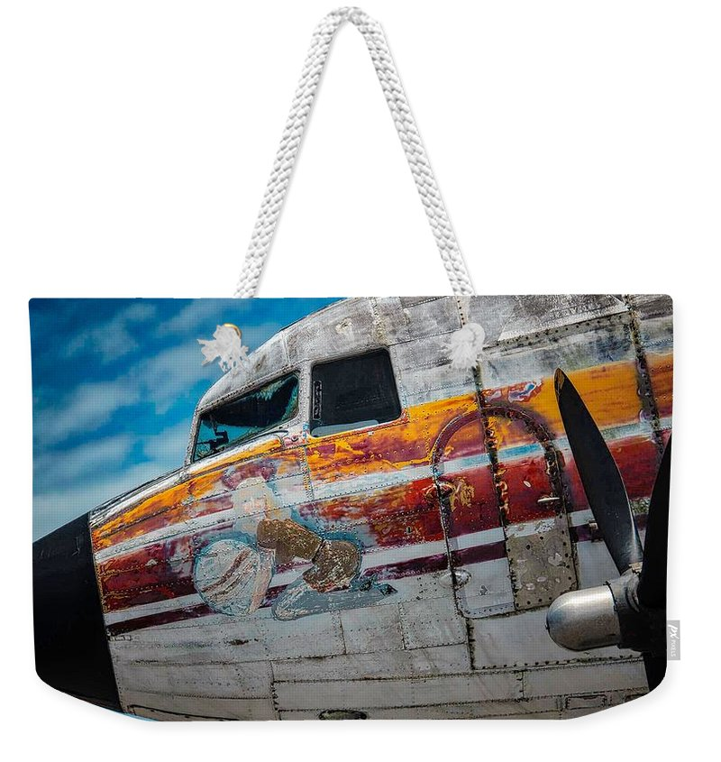 Weekender Tote Bag featuring the photograph C 47 by Michael Nowotny