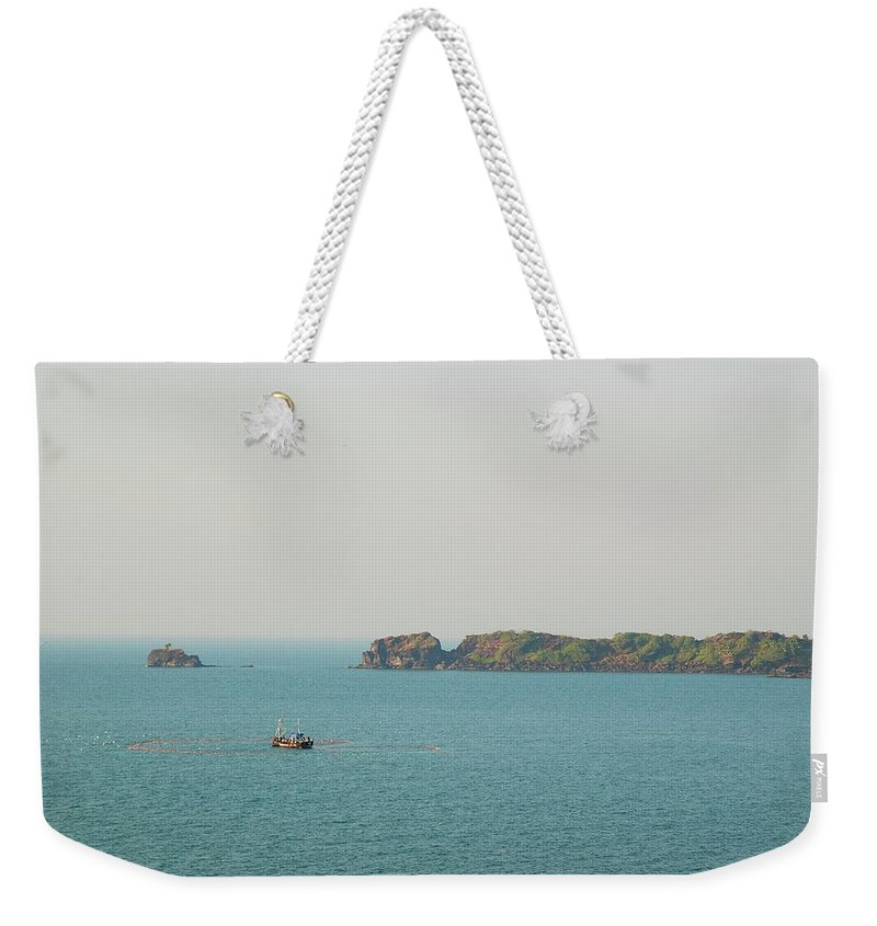 Scenics Weekender Tote Bag featuring the photograph Cabo De Rama, Goa by Cranjam