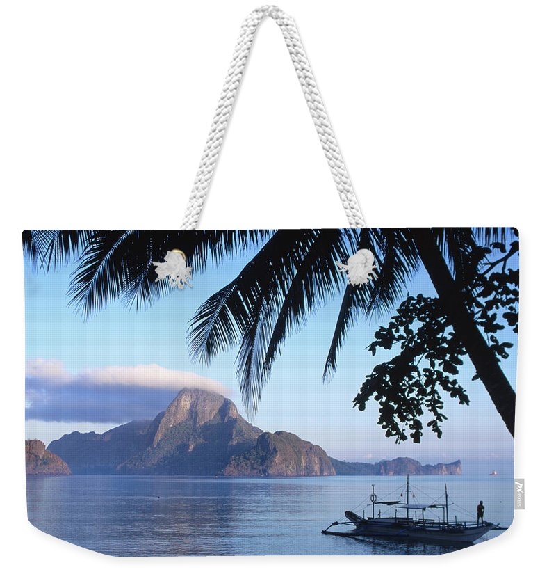 People Weekender Tote Bag featuring the photograph Cadlao Island From El Nido, Sunrise by Dallas Stribley