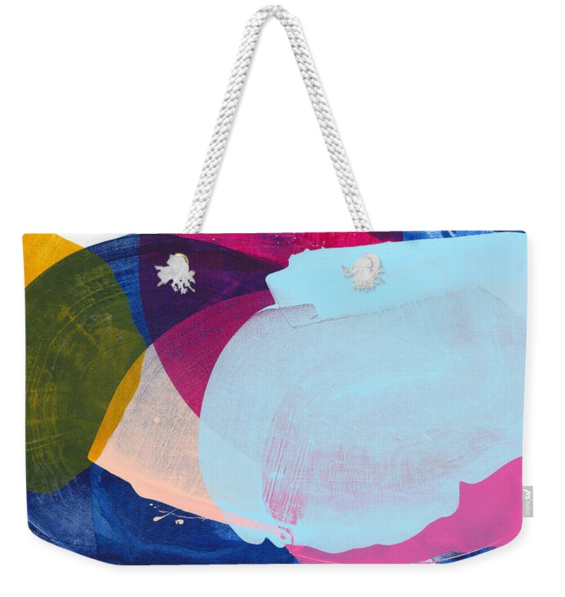 Abstract Weekender Tote Bag featuring the painting California 06 by Claire Desjardins