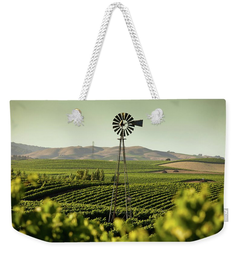Sonoma County Weekender Tote Bag featuring the photograph California Wine Country by Halbergman