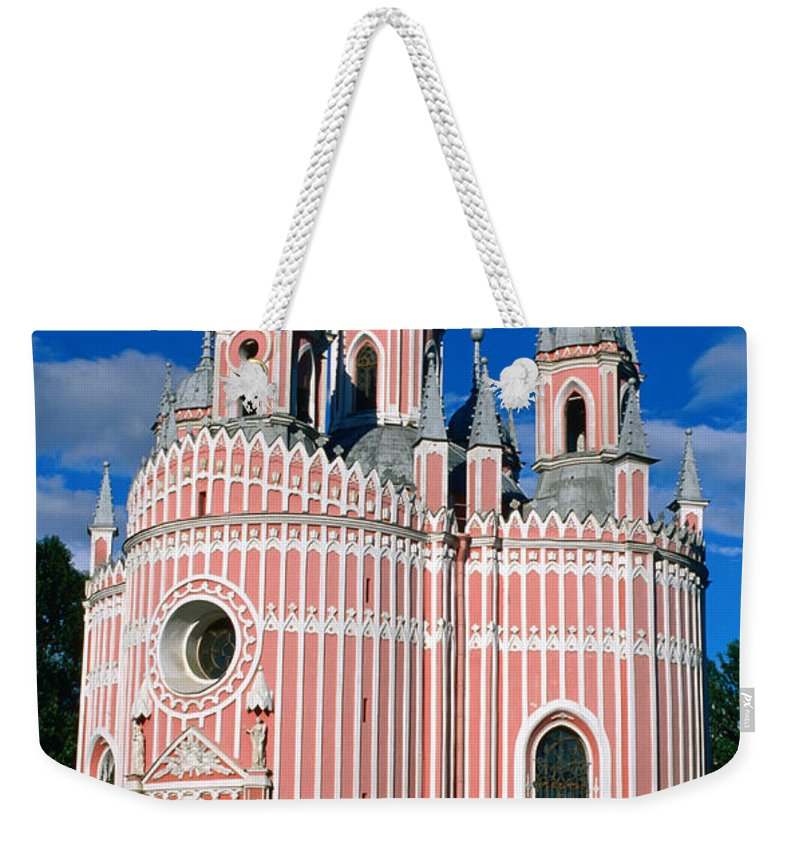 Gothic Style Weekender Tote Bag featuring the photograph Candy Stripes Of Chesma Church, St by Lonely Planet
