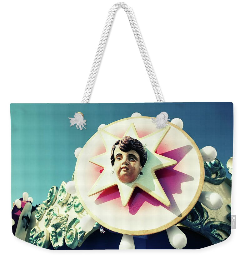 Carousel Weekender Tote Bag featuring the photograph Carousel Boy by Todd Klassy