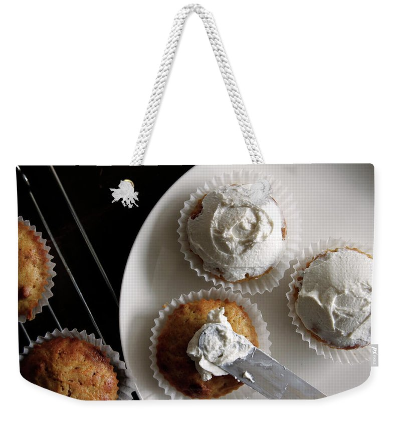 Unhealthy Eating Weekender Tote Bag featuring the photograph Carrot Cakes by Quilie