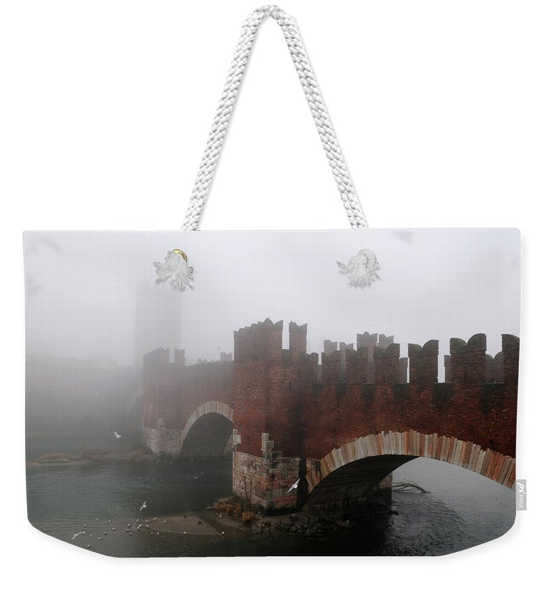 Arch Weekender Tote Bag featuring the photograph Castelvecchio Bridge by Stefano Zuliani Photo