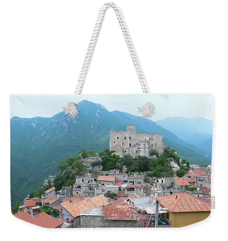 Tranquility Weekender Tote Bag featuring the photograph Castelvecchio Di Rocca Barbena by Photo By Randi Larsen