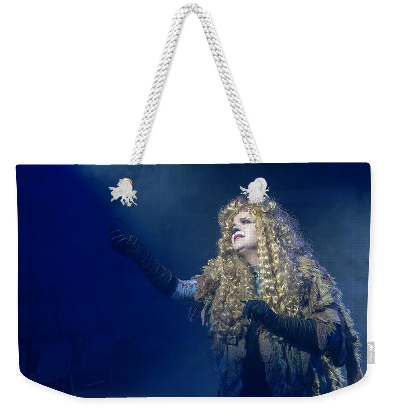 Broadway Weekender Tote Bag featuring the photograph CATS Publicity image by Alan D Smith