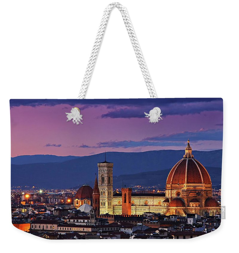 Outdoors Weekender Tote Bag featuring the photograph Cattedrale Di Santa Maria Del Fiore - by Www.matteorinaldi.it