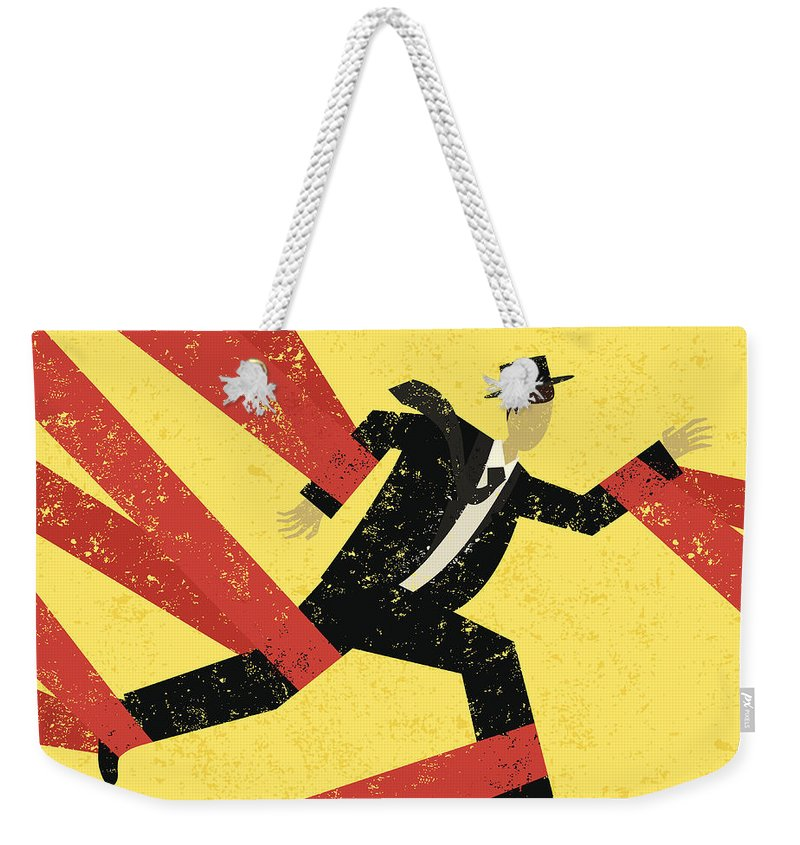 Problems Weekender Tote Bag featuring the digital art Caught In Red Tape by Retrorocket