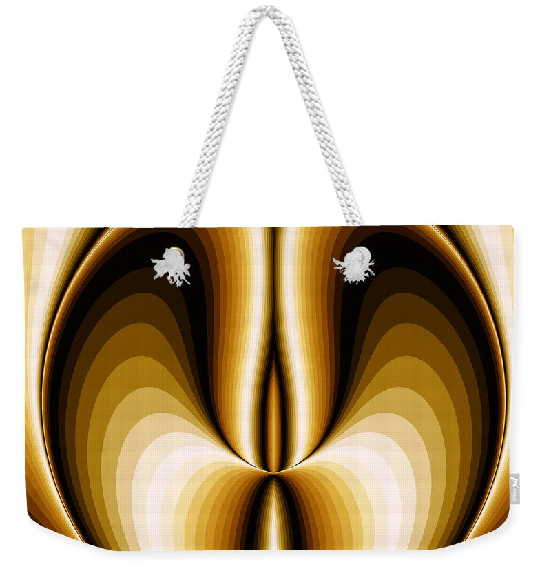 Symmetry Weekender Tote Bag featuring the digital art Celebrating Symmetry by Jipsi Immanuelle