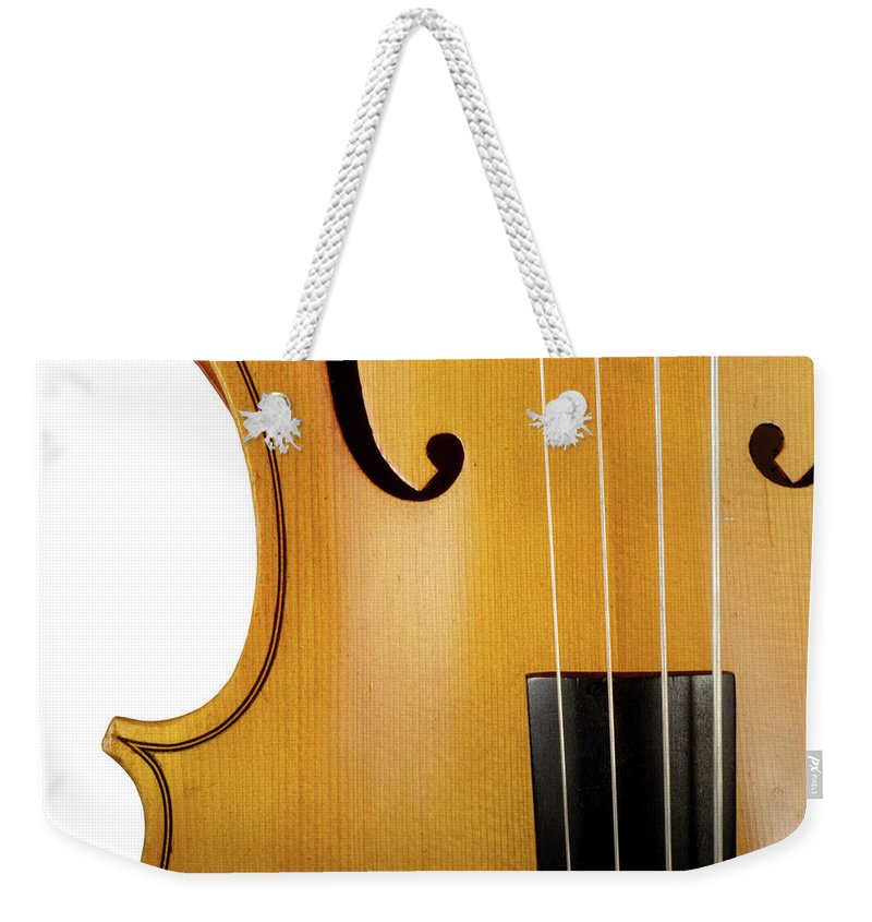 Classical Orchestral Music Weekender Tote Bag featuring the photograph Cello by Hiob