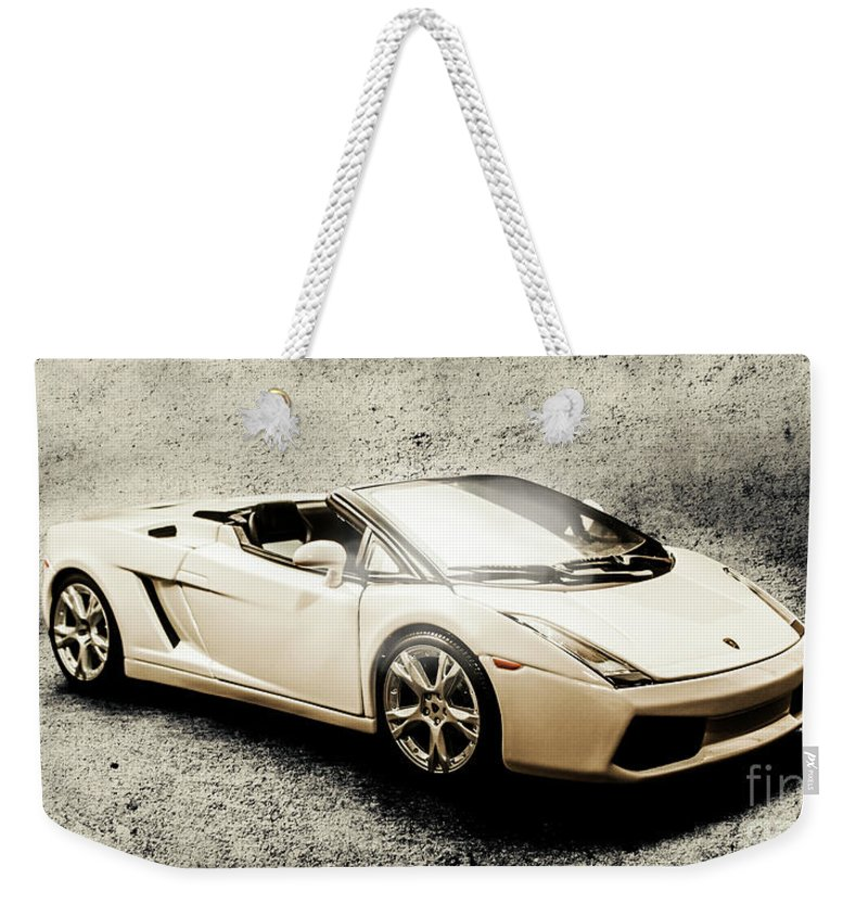 Luxury Weekender Tote Bag featuring the photograph Cement And Chrome by Jorgo Photography - Wall Art Gallery