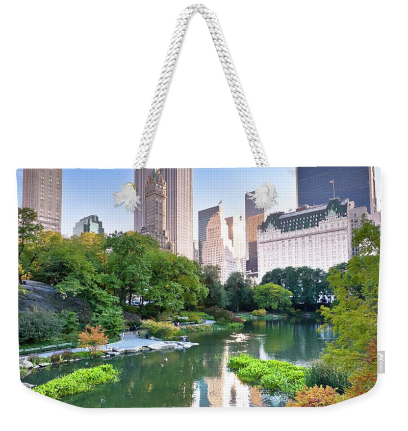 Downtown District Weekender Tote Bag featuring the photograph Central Park In New York City by Pawel.gaul