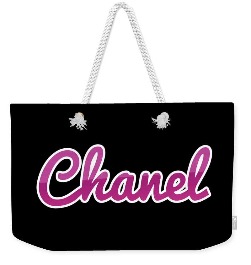 Chanel Weekender Tote Bag featuring the digital art Chanel #chanel by TintoDesigns