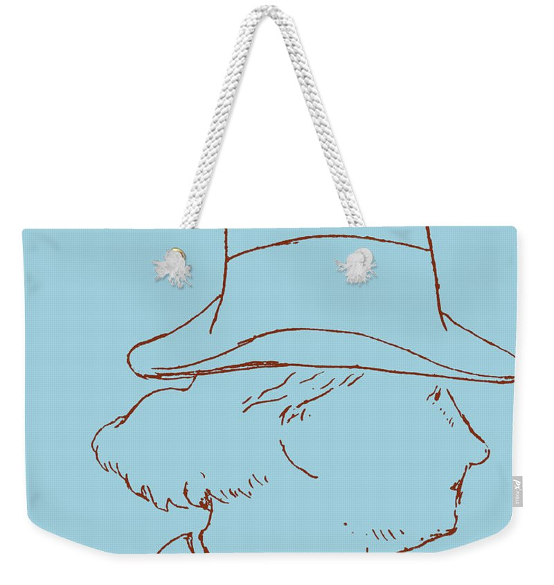 Top Hat Weekender Tote Bag featuring the drawing Charles Baudelaire By Edouard Manet by Edouard Manet
