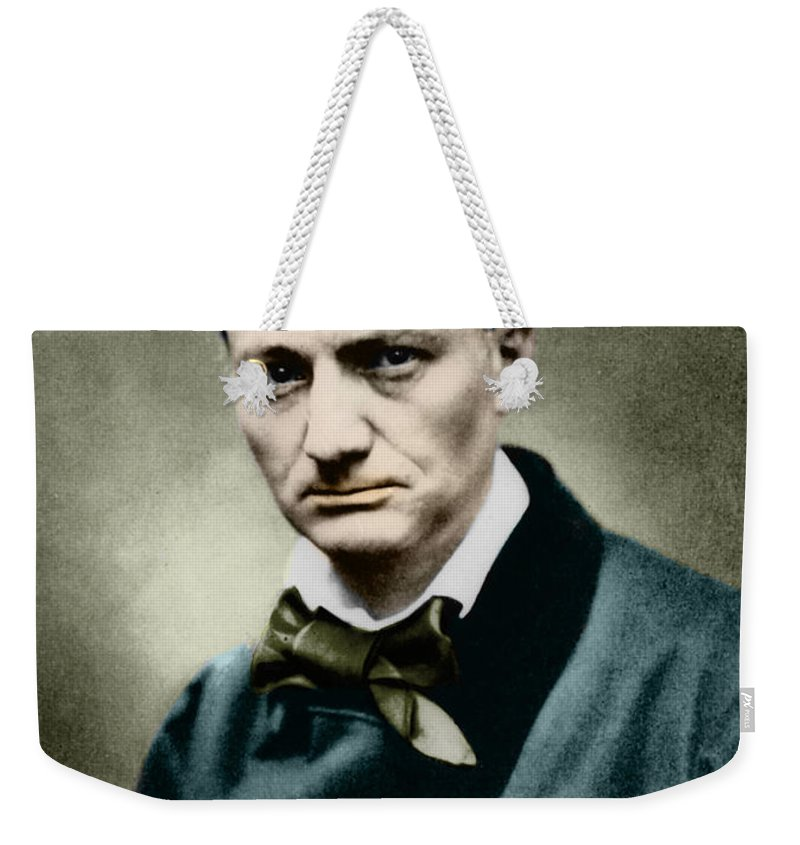 Baudelaire Weekender Tote Bag featuring the photograph Charles Baudelaire, French Writer, Photo by French School