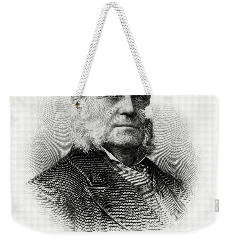 Charles J. Folger Weekender Tote Bag featuring the painting Charles J. Folger by The Bureau of Engraving and Printing