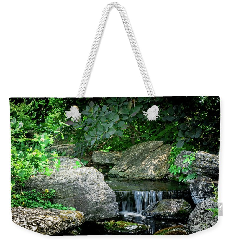 Beauty Weekender Tote Bag featuring the photograph Charming Falls by Deborah Klubertanz