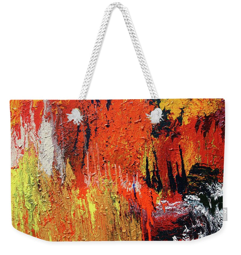 Fusionart Weekender Tote Bag featuring the painting Chasm by Ralph White