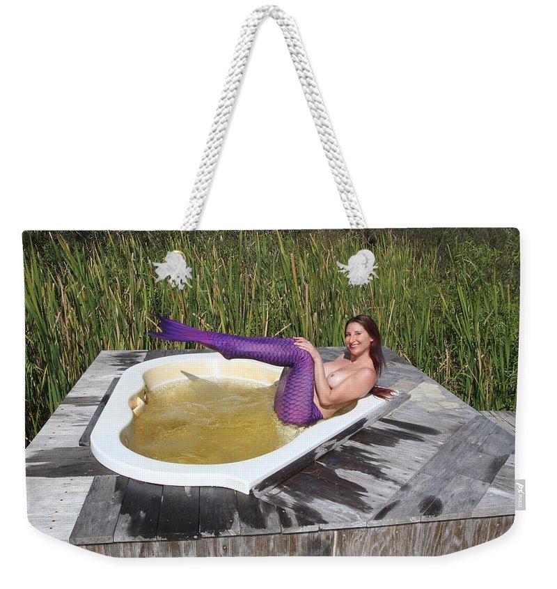 Chokoloskee Mermaid Weekender Tote Bag featuring the photograph Chokoloskee Mermaid 0552 by Lucky Cole