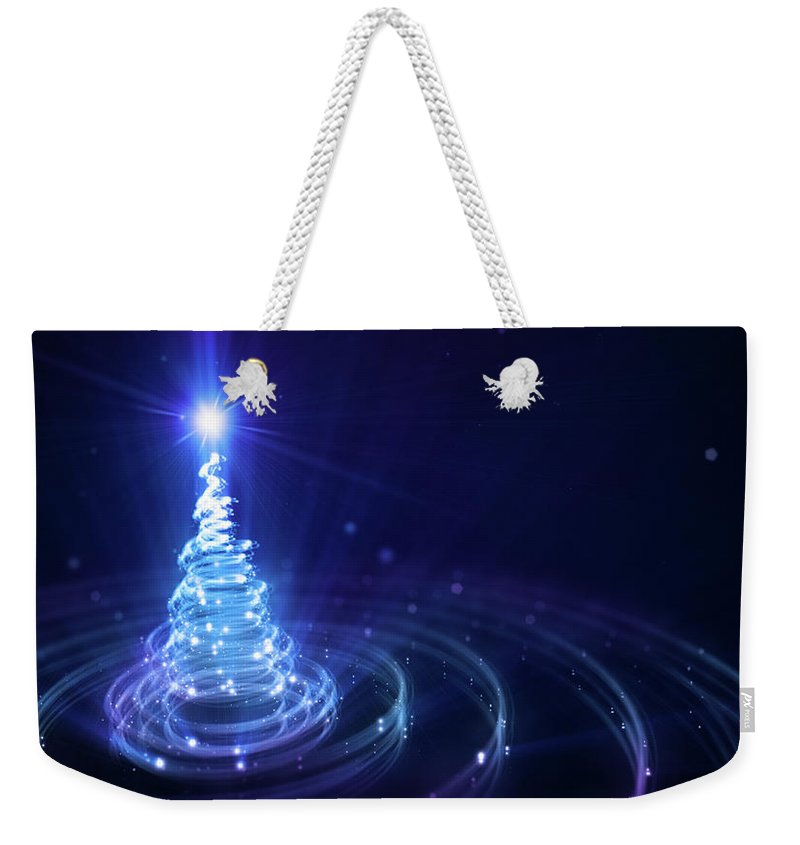 Particle Weekender Tote Bag featuring the digital art Christmas Background by Da-kuk