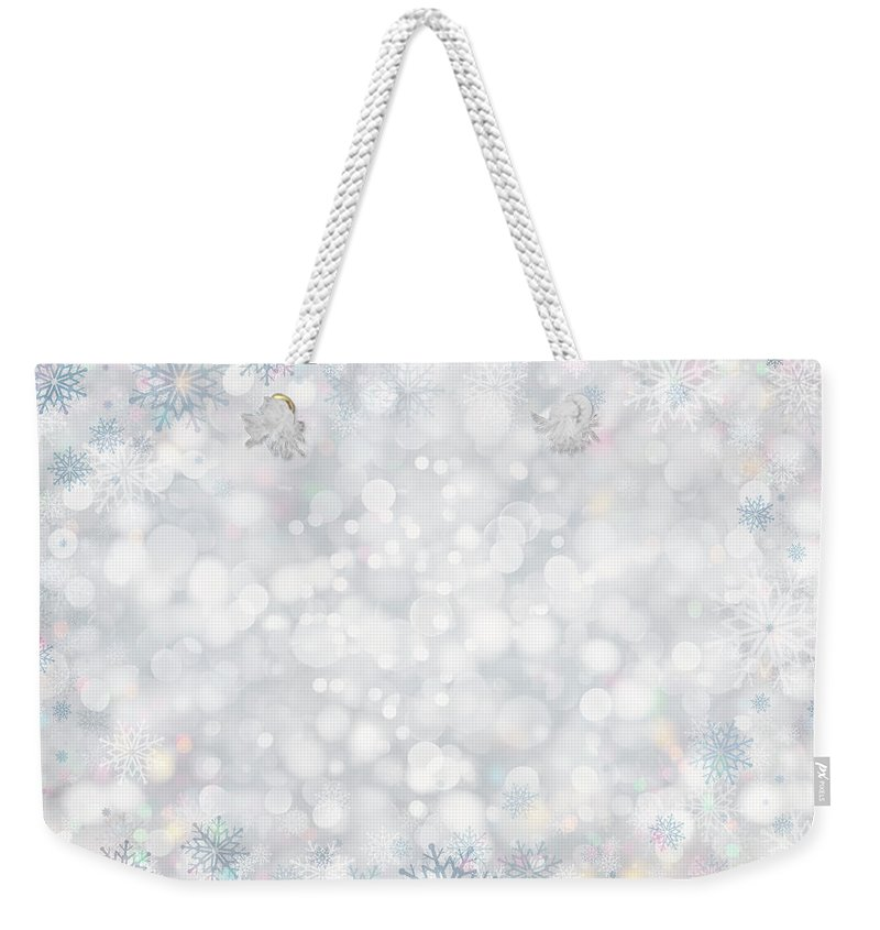 Holiday Weekender Tote Bag featuring the photograph Christmas Background by Sbayram