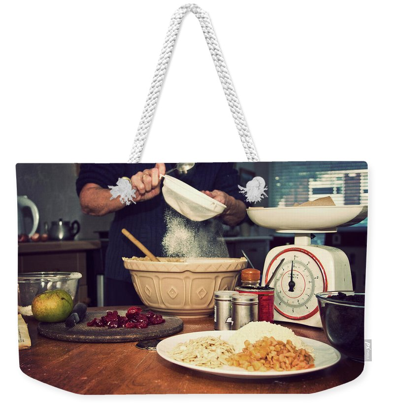 Dublin Weekender Tote Bag featuring the photograph Christmas Cake Making by Image By Catherine Macbride