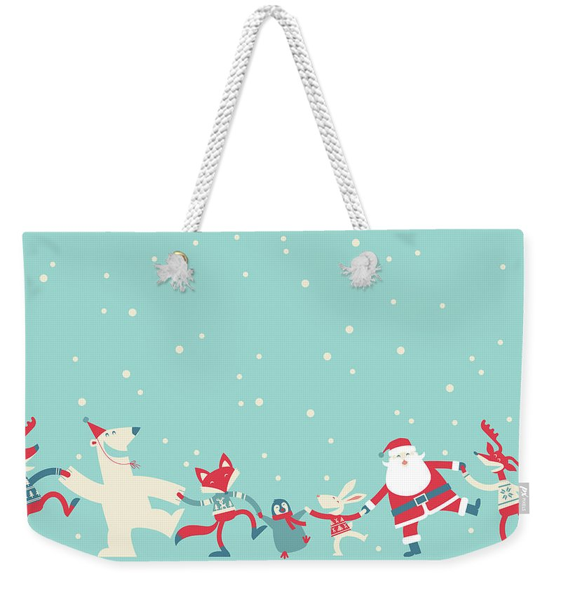Holiday Weekender Tote Bag featuring the photograph Christmas Dancing by Akindo