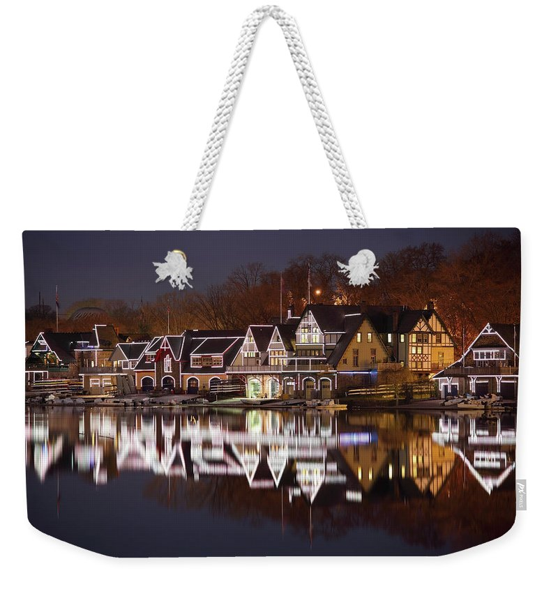 Holiday Weekender Tote Bag featuring the photograph Christmas Lights by Denistangneyjr