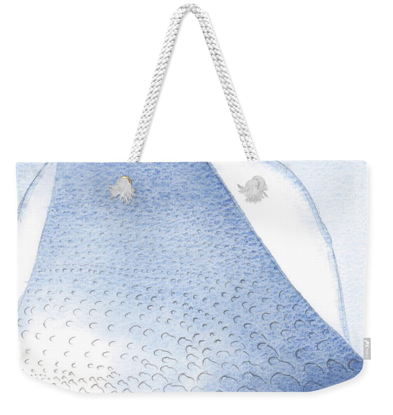 Light Weekender Tote Bag featuring the painting Christs Light And Radiance Are Poured Unto Our Hearts by Elizabeth Wang