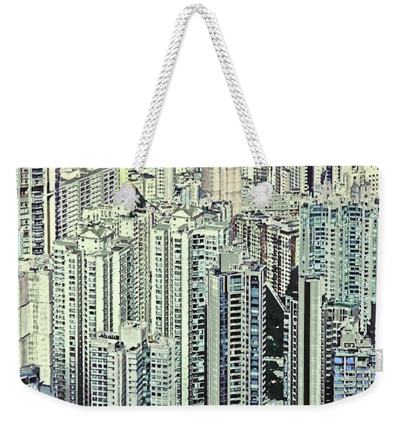 City Weekender Tote Bag featuring the photograph City by Gillis Cone