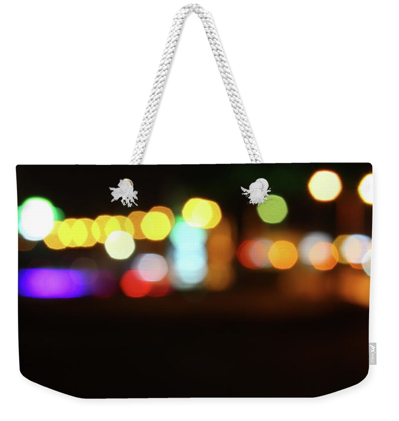 Shadow Weekender Tote Bag featuring the photograph City Lights by Aydinmutlu