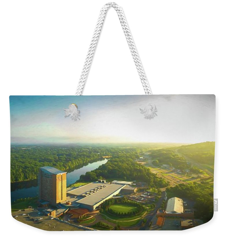 Art Weekender Tote Bag featuring the digital art City Of Natural Beauty by Michael Campbell